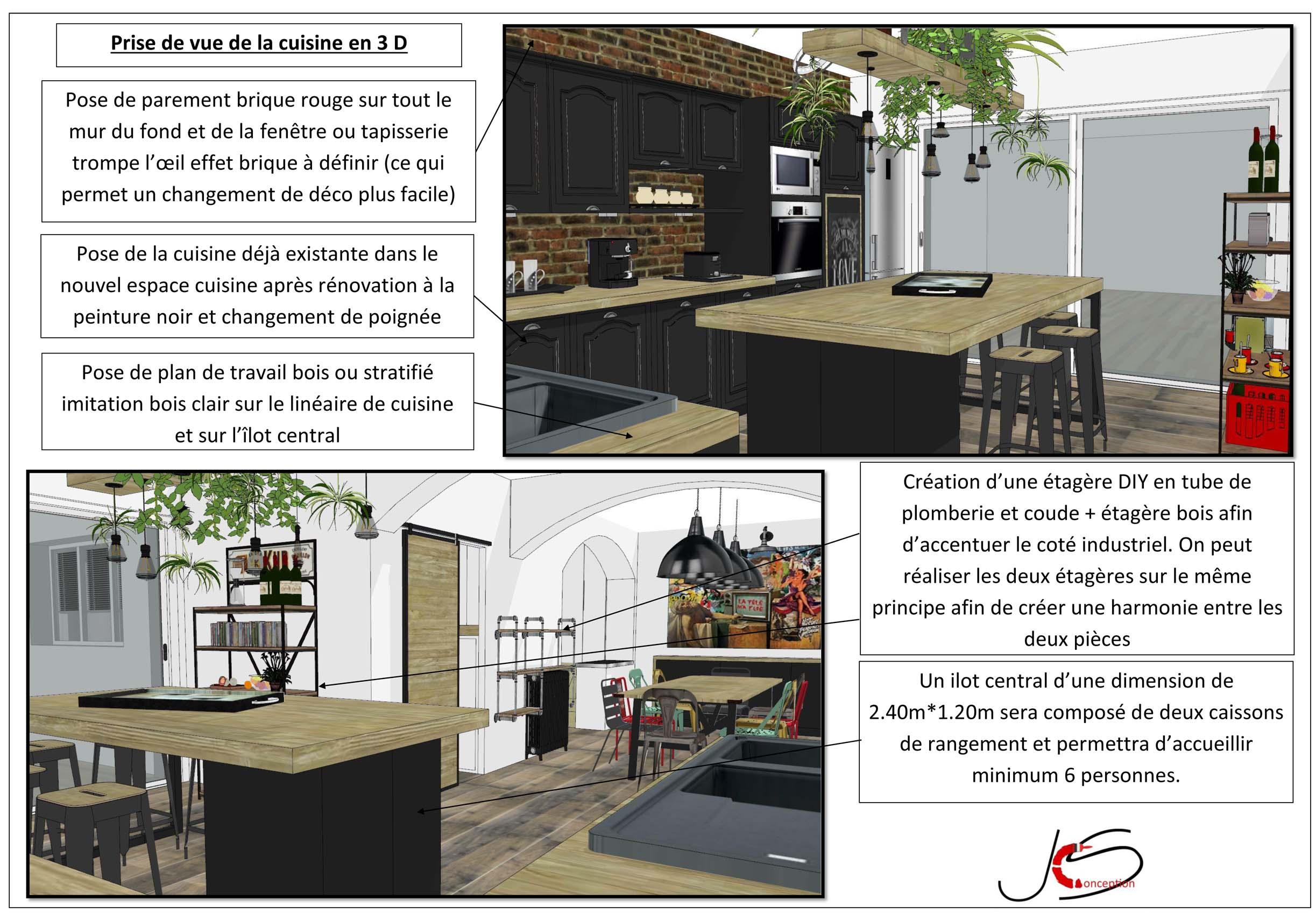 plan 3 D cuisine