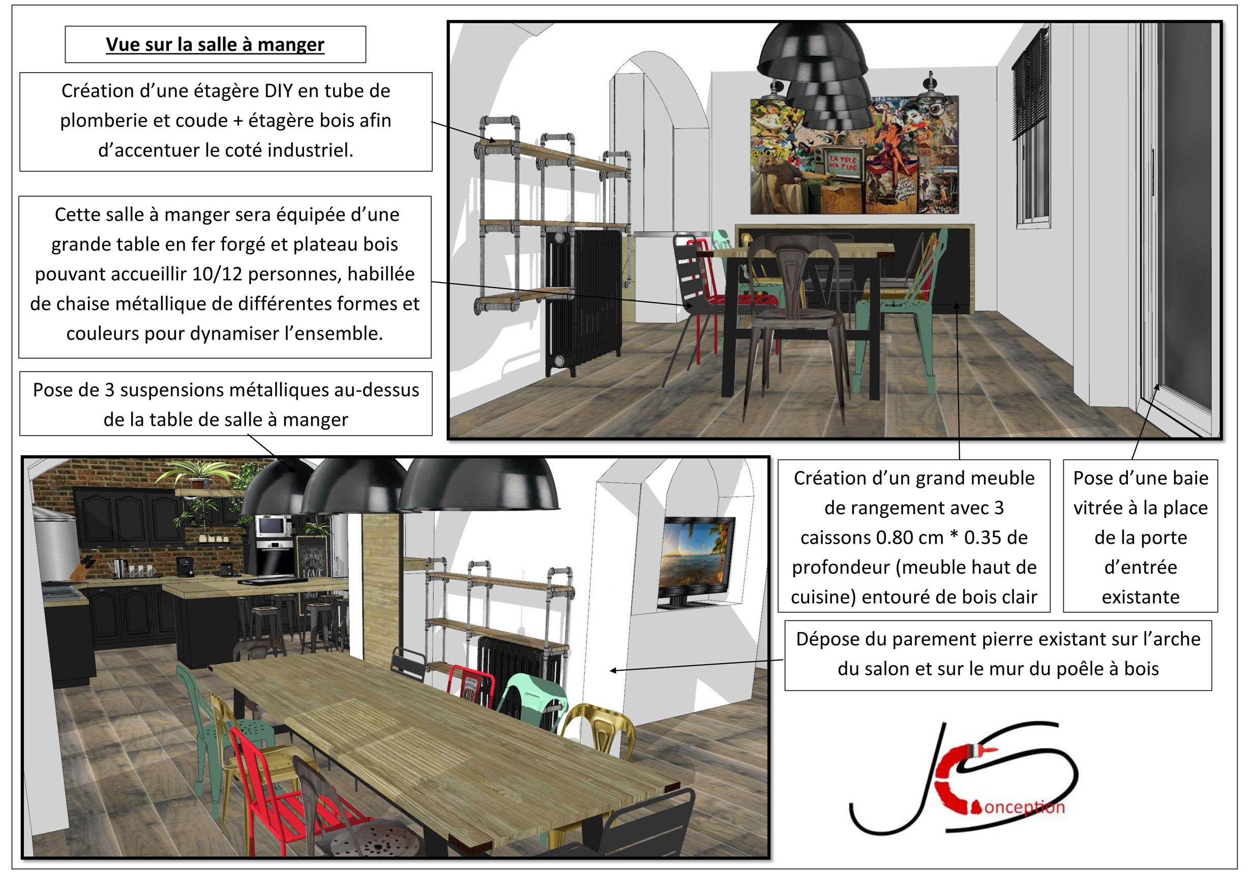 plan 3D du salon