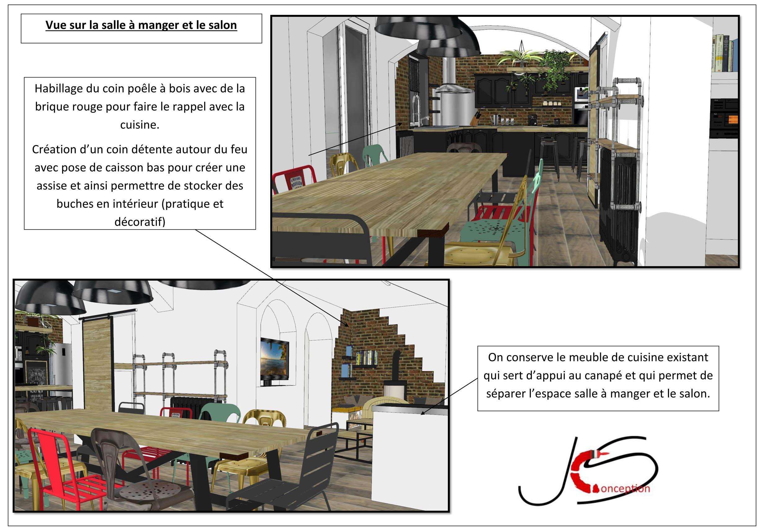 plan 3 D salon