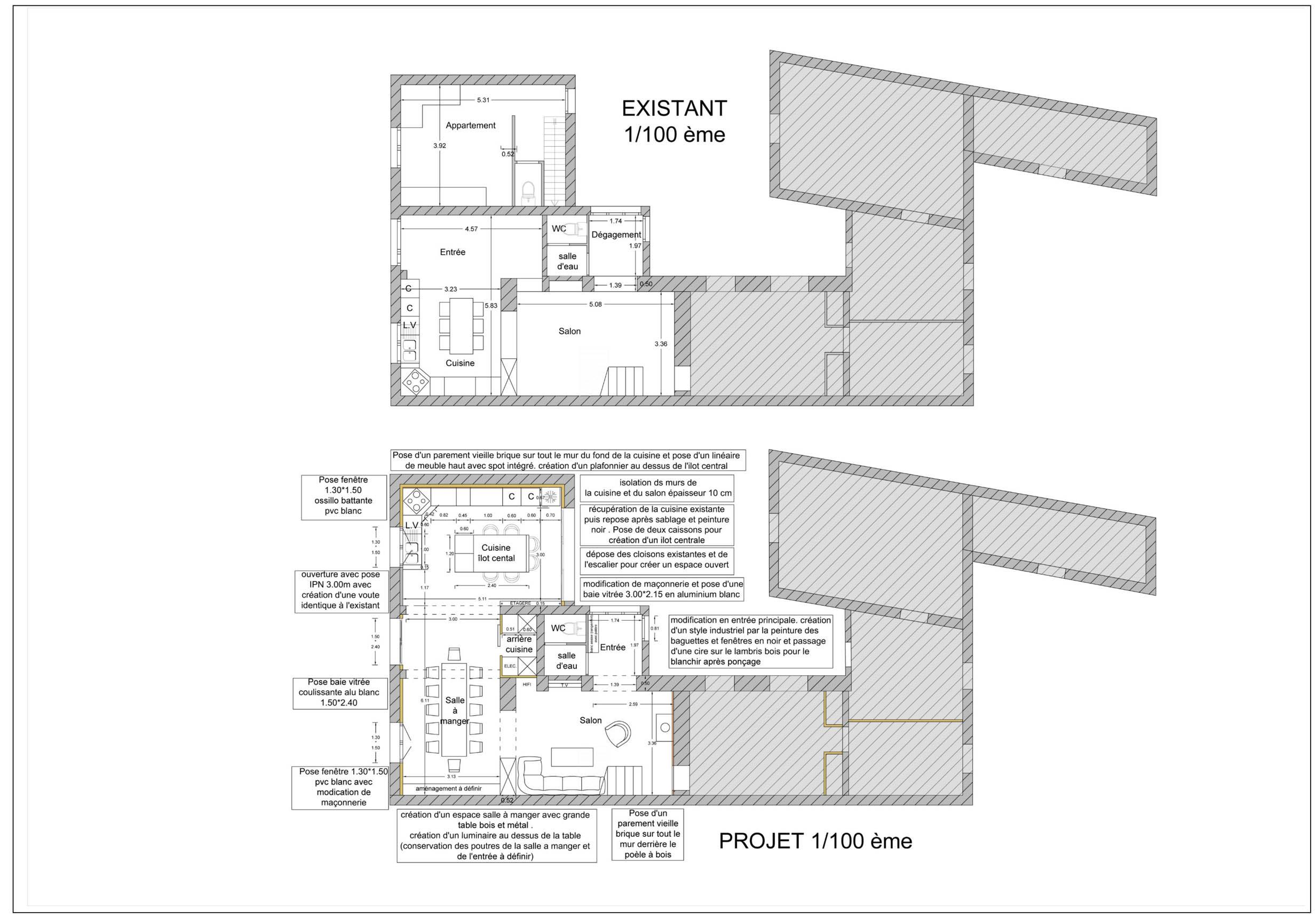 plan 2 D intérieur